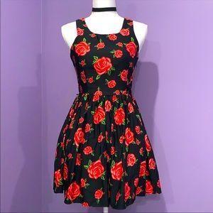 Rose Floral Print Dress
